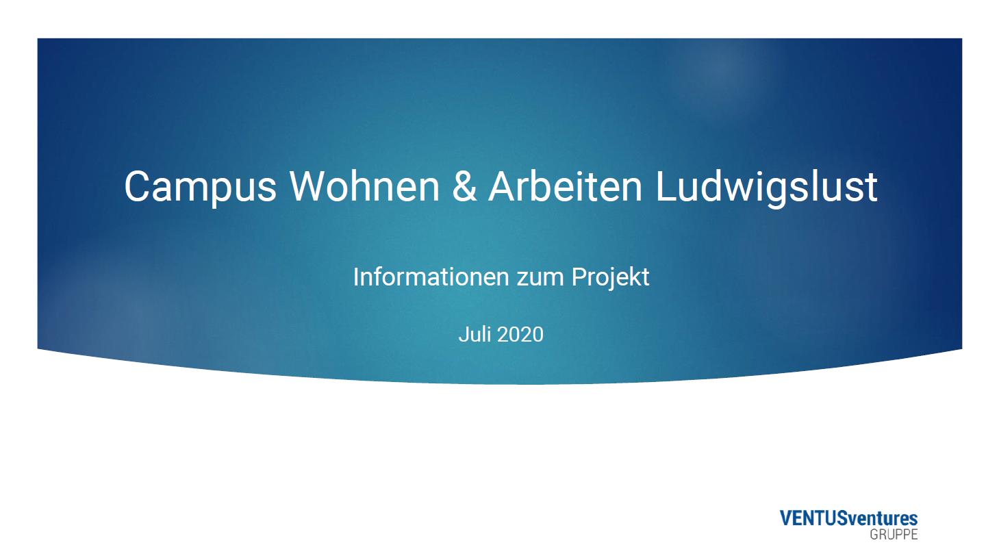 Informations Projekt Campus Wohnen & Arbeiten Ludwigslust